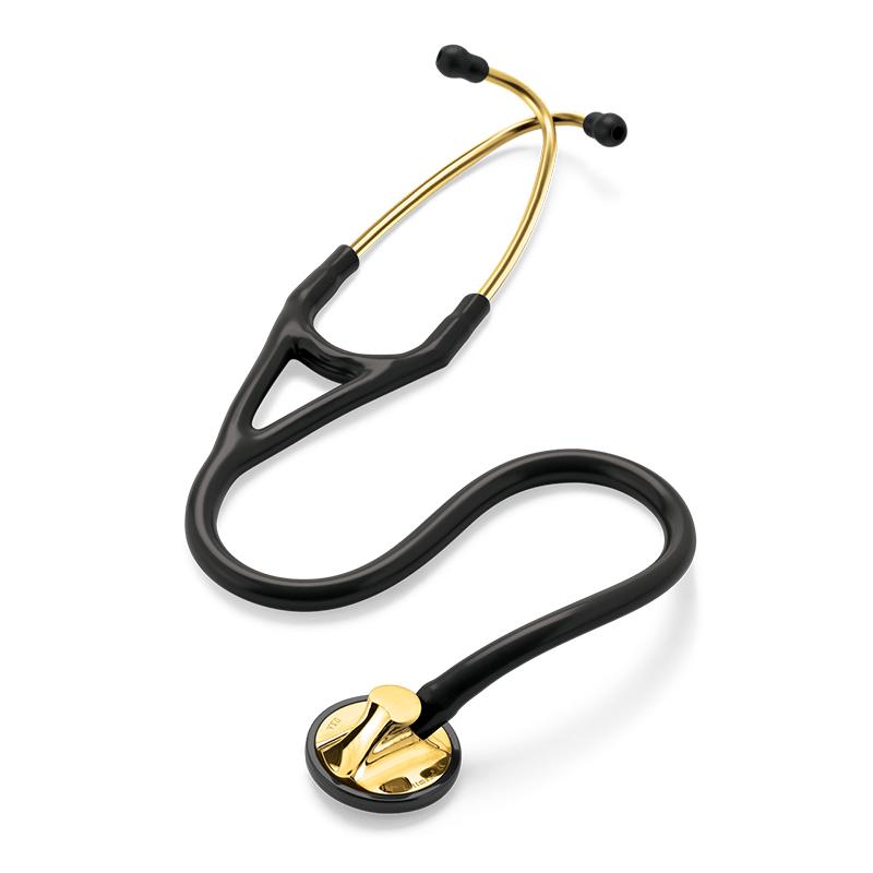 Стетоскоп Littmann Master Cardiology Черный с золотым колоколом (Black/ Brass Finish) - описание, цена